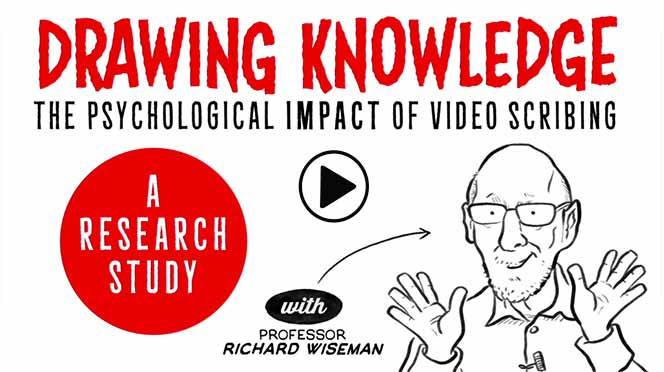une vidéo whiteboard du Dr Richard Wiseman